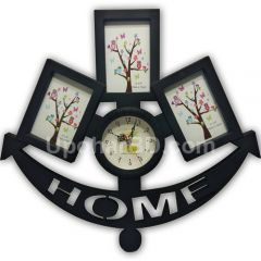 Anchor of Memories photo frame with clock
