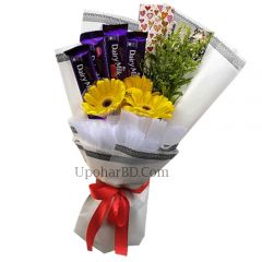 Gerbera chocolate bouquet