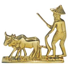 Bronze Made Farmer