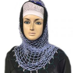 Black and blue hijab set