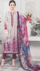 Grey with magenta and blue mix exclusive fancy traditional suit by Esta design