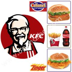Zinger burger meal