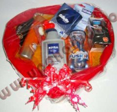 Package for him with personal care items