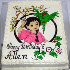 Mina Cartoon Designed Cake