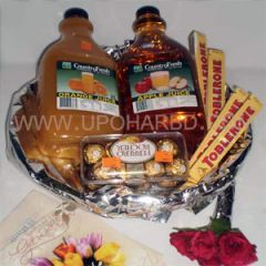 Juice and chocolate package