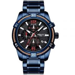 Men's Full Blue Chronograph Wrist Watch
