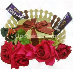 Roses and chocolates