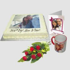 Photo Cake with mug and card