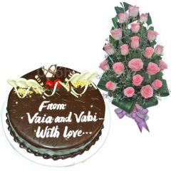 Kings cake and rose gift package for Chittagong
