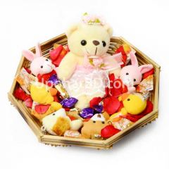 Princess teddy with chocolates for kid