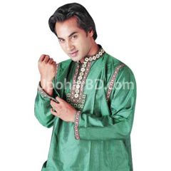 ND silk panjabi with green touch