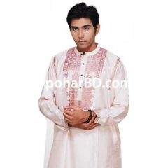 ND silk white panjabi