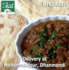 Breakfast with beef bhuna