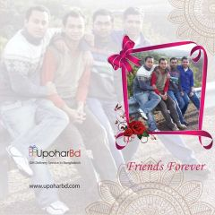 Friendship day photo greetings card