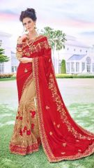 Red Embroidered Saree from Kalishta Fashion's KHWAAB Vol-10
