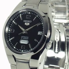 Seiko wrist watch with chrome finish