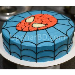 Spiderman design cake