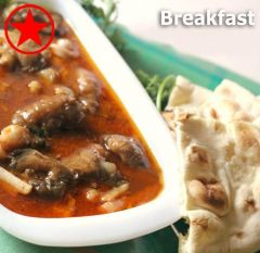 Breakfast with mutton paya