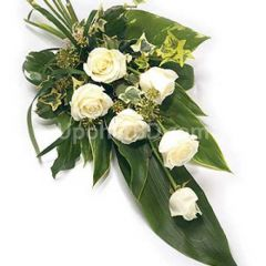 Simple Arrangement of White Roses