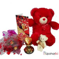 Red for love valentine hamper