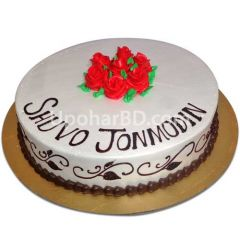 Cake with rose design